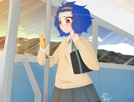 On Her Way by andapanda