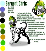 Character Referance:Sar. Chris by xAshleyMx