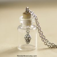 Pinecone in a Bottle Necklace by foowahu-etsy