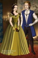 Tudor Disney Couples Beast Adam and Belle by SerenDippityDooDah
