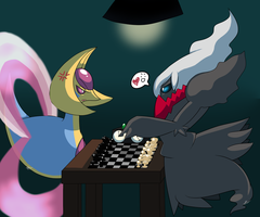 Chess Battle - Light vs Dark by AngelOfPerfectChaos