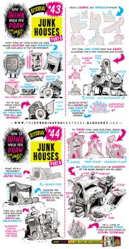 How to draw JUNK HOUSES tutorial by STUDIOBLINKTWICE