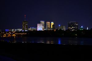 Skyline on the river by AtomicFireball33
