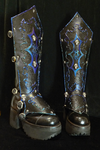 Tiefling Warlock Boots with Greaves by lilibat