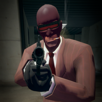 Team Fortress 2: Spy futuristic glasses by SdZLinko