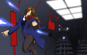 Female Doctor Vs Daleks by Bonjman