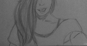Tumblr girl licking lips Sketch by Jessi2012