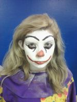 Horror clown make up by RockO-the-clown
