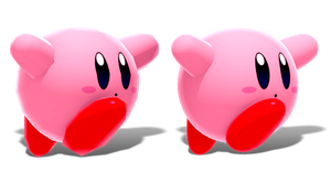 Kirby Model - Low Poly vs High Quality! by CoolAsEiz