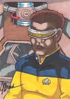 Sketch Card #32 - Geordi LaForge by destinyhelix