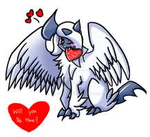Mega Absol wants to be your valintines by ho-ohgia