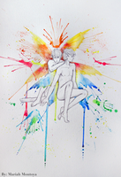 Color Fairies 13 - Pitch and Cey by yuuyami-artist