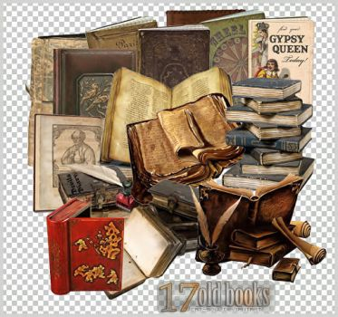 17 PNG 'Old Books' by CaT-S0uL