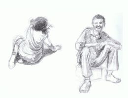 quick sketches - daily people by cheatingly
