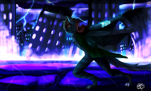 -AT- The Neon Lights by Loki-Ryuu