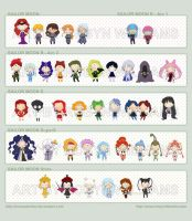 Sailor Moon Chibi Villains by rewynd-studio