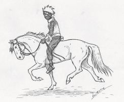 Kakashi on a pony by WhiteK9