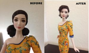Fan Bingbing Before and After Repainted Doll by RCOCO-DOLLS