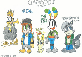 Characters' Doodle of The Day - 08/31/2014 by FelixToonimeFanX360