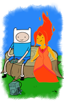 finn and flame princess by boldDEBO