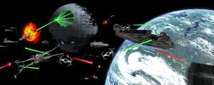 The Battle of Endor by goyney