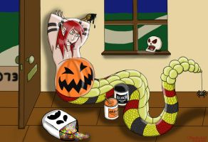 Kayne's trick and treat by thesnakechild