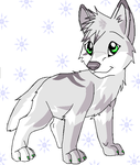 Frostcut pup for contest by cutetoboewolf