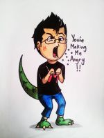 Dinoplier is Angry! by irukaluvsdumplings