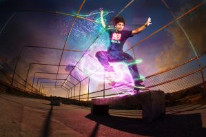 skateboards and lights by kc502