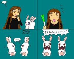 Chizuru and the Rabbids 1 by pheeph
