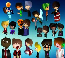 Minecraft YouTuber Ships! by ThinkAboutMinecraft