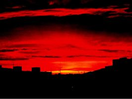 Red skyline by peter-bb