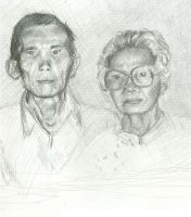 My Grandparents- Pencil by EricaVee