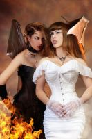 Succubus and the bride by CrowsReign and Tanit by FueledbypartII