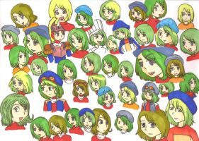 Oliver's Many Faces by MajesticIllusion