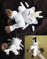 Posed Meowth Plush - Other Views by xBrittneyJane