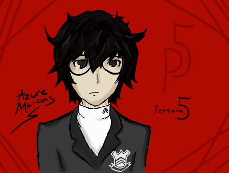 Persona 5 Protag Arrives! by AzureMarcus