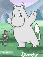 Moomin contest entry! by Lunelu