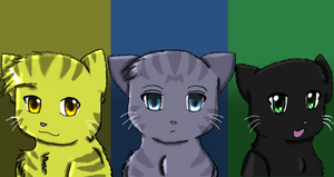 Lionpaw, Jaypaw, and Hollypaw by MiaMaha