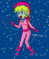 Space Peach by pheeph