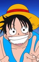 Luffy Vector By: Tiago Alves by havoqc