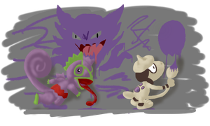 Kecleon and Smeargle by x-sellout