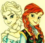 Elsa And Anna. by LilNikiwi