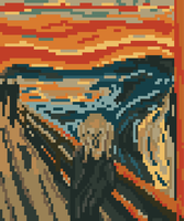 The Scream 8-bit by Baron-Kettell