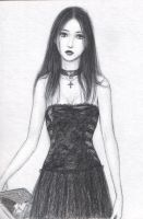 goth with book by dashinvaine