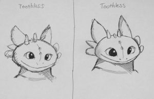 Toothless - Right Hand vs Left Hand by Fetting
