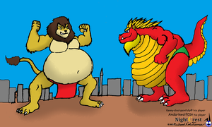 Supreme Sumo match by NightCrestComics