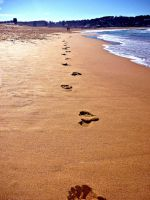 Footprints in the Sand by 1-Lilith-1