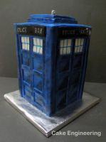 Tardis Cake 3 by cake-engineering