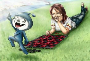 Checkers with Exco and Eve by Truz98